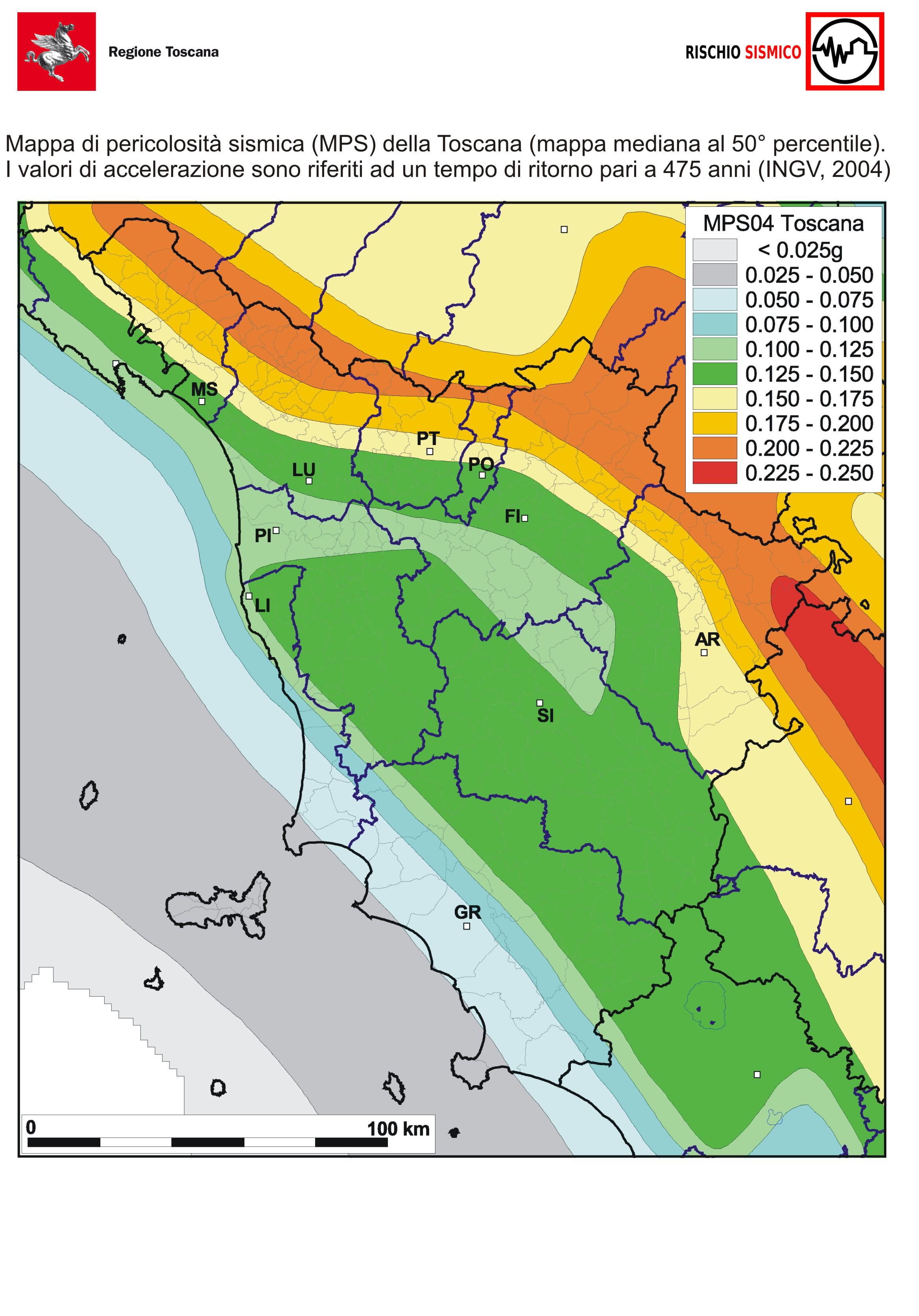 Cartina Zone Sismiche Italia.Classificazione Sismica Della Toscana Regione Toscana