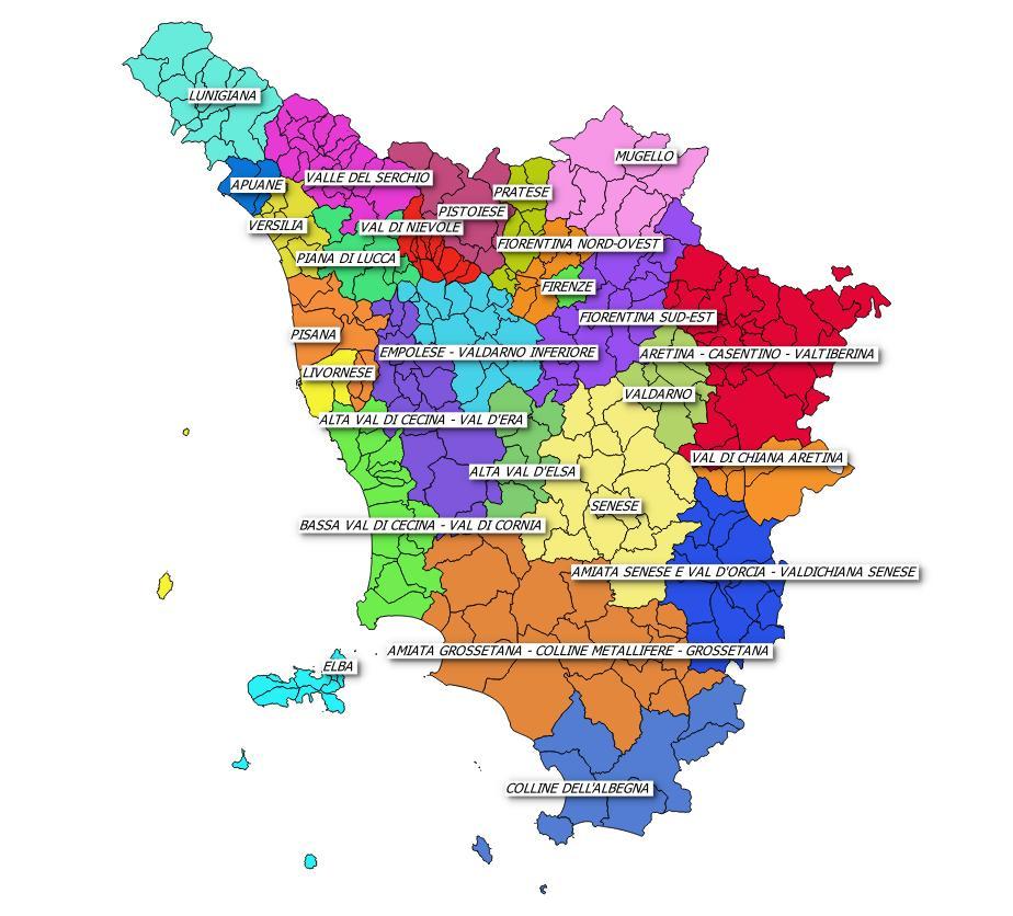 Cartina Regione Toscana.Quaderni Territoriali 2015 2019 Regione Toscana